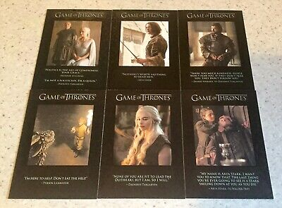 GAME OF THRONES QUOTABLE CHASE CARDS x 13 Q31 Q32 Q34 Q36-38 Q43-45 Q51 Q55-57
