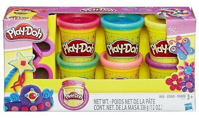 🚛Fast Shipping! {NEW}  Play-Doh Sparkle Compound Collection 6 Colors 2 Cutters