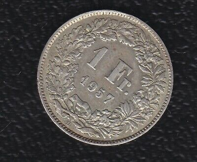 Switaerland 1 Francs 1957 Silver