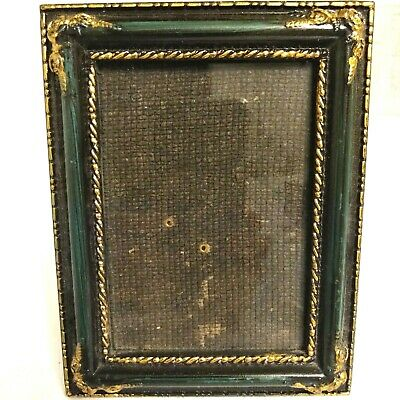 Black  / Green Gilded Victorian Style Ornate Picture table Desk Frame