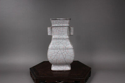Chinese Ancient Song Dy Guan Kiln white Porcelain flat vase