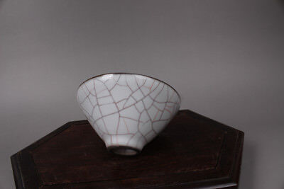 Chinese Ancient Guan Kiln white Porcelain small Bowls