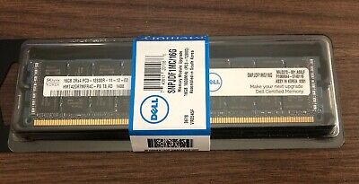 4x DELL SNPJDF1MC 16GB (64GB) 1600Mhz PC3-12800R ECC REGISTERED RAM CERTIFIED