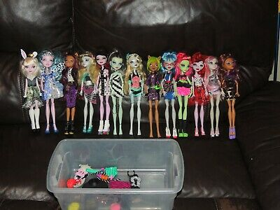 Lot of 13 Monster High & Ever After High Doll Full Outfits No Dups VERY CLEAN!