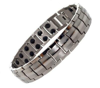 Titanium Magnetic Pain Relief Therapy Bracelet from MnB Bracelets (Silver)