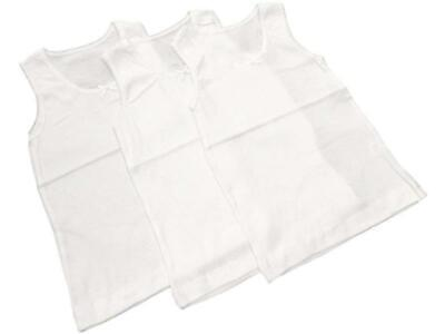 **Back to School** 6 Pack of Girls 100% Cotton Warm Vests/Available in Ages 1 up