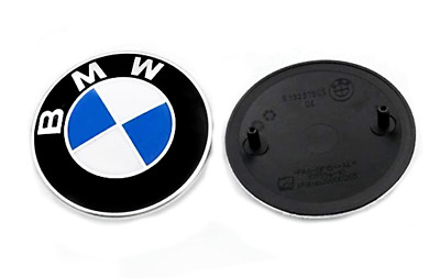 BMW Genuine OEM Emblem 82mm Logo Badge Roundels for Hood Front & Rear Trunk