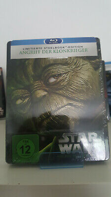 Bluray Steelbook Star Wars Episode 2 II - Angriff der Klonkrieger  Neu&OVP