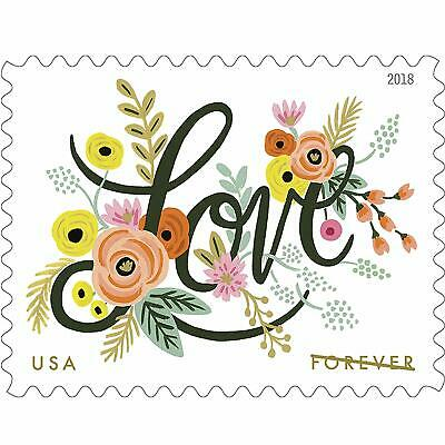 Love Flourishes 10 Sheets of 20 USPS First Class Forever Postage Stamps Wedding