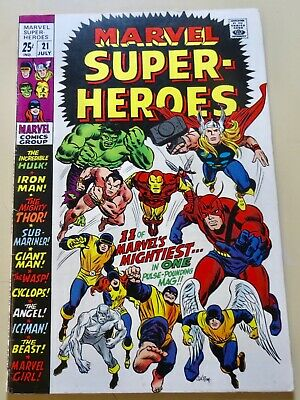 19-C0566: Marvel Super Heroes # 21, 1969, VF 8.0! See Promo 7 for 7!