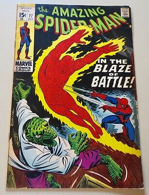 19-C0598: Amazing Spider-Man # 77, 1969, VG/F 5.0! The LIZARD See Promo 7 for 7!
