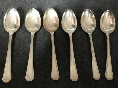 6 x VINTAGE MAPPIN & WEBB SILVER PLATED ATHENIAN DESSERT SPOONS  SERVICE