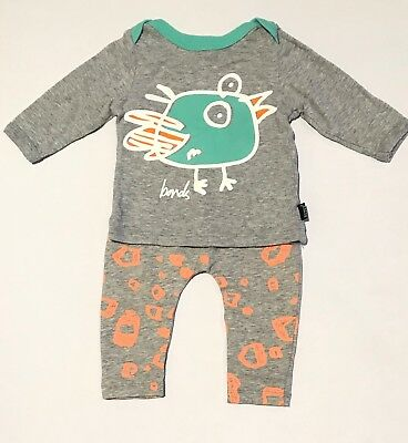 Nearly as new BONDS STRETCHIES leggings bottoms l/s top t-Shirt 000 / 3-6 months