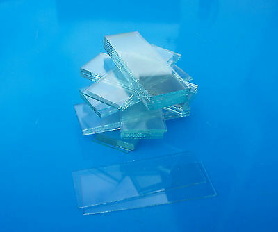 Glass MICROSCOPE SLIDES - approx 50 x new,clear UNGROUND edges slides -unboxed
