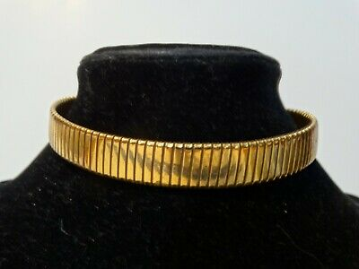 Rare Unusual Vintage Omega Style Chain Choker Necklace signed Bliss Brothers Co.