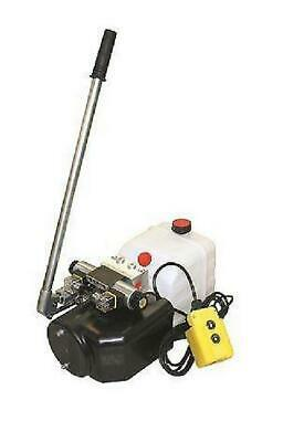Flowfit 12V DC Double Acting Hydraulic Power pack, 4.5L Tank & Hand pump ZZ00513