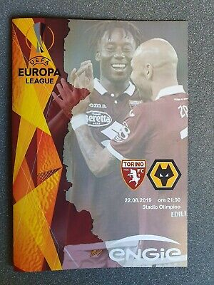 EUROPA LEAGUE~TORINO v WOLVERHAPTON WANDERERS~22/08/2019 ~UNOFFICIAL PROGRAMME