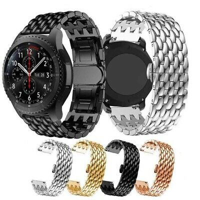 Stainless Steel Strap Metal Watch Band For Samsung Galaxy Watch 20/22mm Gear S3