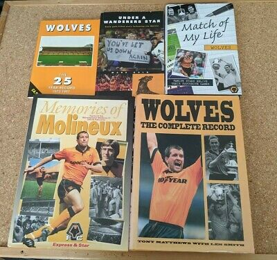 Bundle Of 5 Wolves Books Wolverhampton Wanderers WWFC Molineux