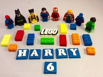 LEGO CAKE TOPPER- Numbers - Cake Rice Paper Happy Birthday
