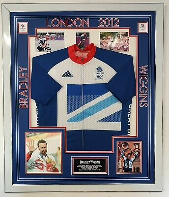 Bradley Wiggins Signed Photo with Shirt Jersey Autographed London 2012 Display