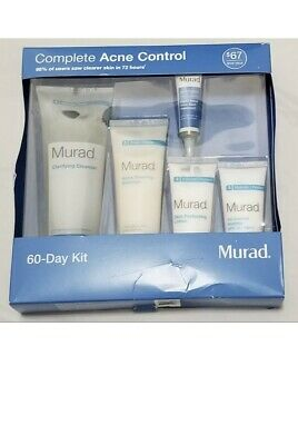 Murad Complete Acne Control 60-Day Kit - Resolves Breakouts -5 Pieces - New 1/19
