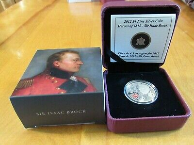 #119763  2012 Fine Silver Coin-Heroes Of 1812 Sir Isaac Brock