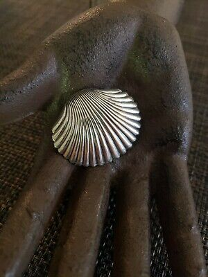 Vintage Beau Sterling Silver Clam Seashell Brooch