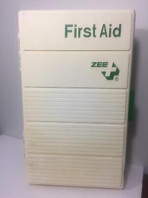 Large Wall Mount ZEE Medical First Aid Cabinet Plastic Box Empty
