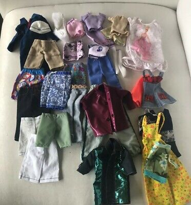 Lot Of Barbie And Ken Doll Clothes
