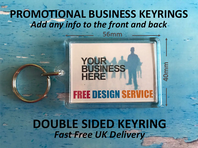Personalised Business Promotional Keyrings - Add Logo - Text - Image - Details