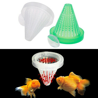 2pcs Aquarium Red Worm Feeder Cone Feeding for Fish Tank Angel Fish DiscusFishFR