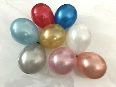 "5"" inch Metallic Balloons Small 10pk by Sempertex Latex Party Birthday Decor fs"