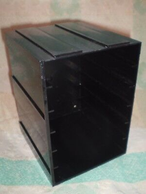 NAB & 8-track audio storage rack - Interlocking plastic container holds 6 Carts.