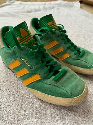 quality products retail prices good out x ADIDAS ORIGINALS SAMBA Super Green Yellow Vintage Size Uk 8 ...