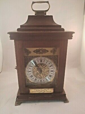 VINTAGE 8 DAY BRACKET CLOCK. FHS BIM BAM STRIKE MOVEMENT. Ca 1980's
