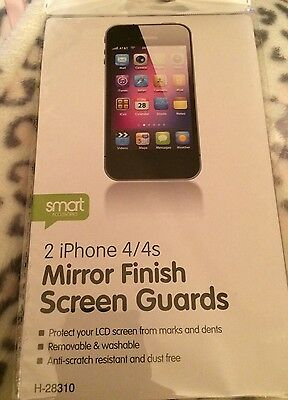 Screen Protector For Apple Iphone 4/4S Mirror Finish- Brand New