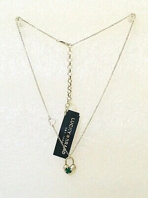 Lucky brand jewelry antique matte logo silver tone necklace. 005