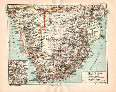 Antique map. AFRICA. SOUTH AFRICA. CAPE COLONY. NAMIBIA. c 1905