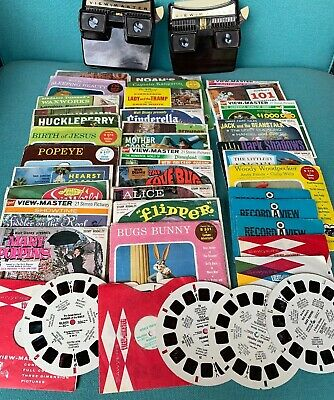 Vintage View-master Reels and 2 Stereo Light Viewers Lot 40 Excellent Condition