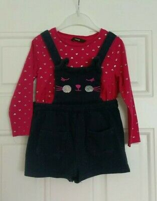 Girls George dungarees set With Top 2-3 Years