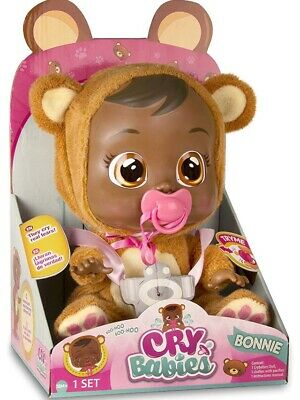 🚛Fast Shipping! {NEW} Cry Babies Bonnie Doll Pacifier Real Water Tears