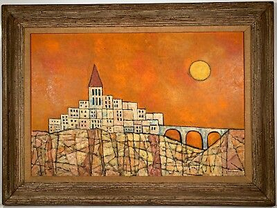 Listed Artist David Shapiro (1916-2005) Signed Oil Painting w/ Provenance