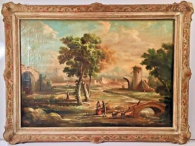 Late 19th Century Italian Oil On Canvas Landscape Painting Signed Vannetti