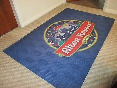 Genuine Flag / Banner From Alton Towers Theme Park Rollercoaster RARE !! Nemesis