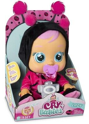 🚛Fast Shipping! {NEW} Cry Babies Lady Ladybug Doll Pacifier Real Water Tears