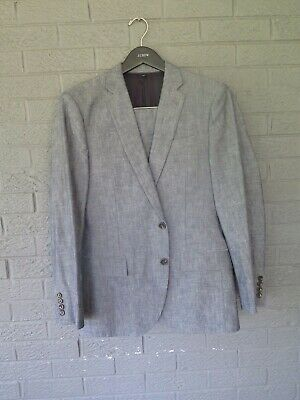 New J Crew Ludlow Slim Fit Japanese Chambray Suit Size 38S 38 Short 32 X 29 Pant