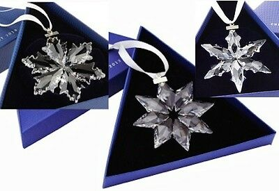 2013, 2014, 2015 Swarovski~Snowflake STAR Annual Christmas ORNAMENT~set of 3~NIB
