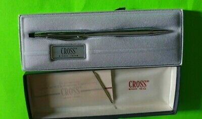 Cross Classic Century Lustrous Chrome Ballpoint Pen Fast Free Shipping