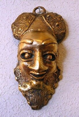 Benin Bronze Hip Mask, African Bronze, Lost Wax Casting, Solid Museum Quality!